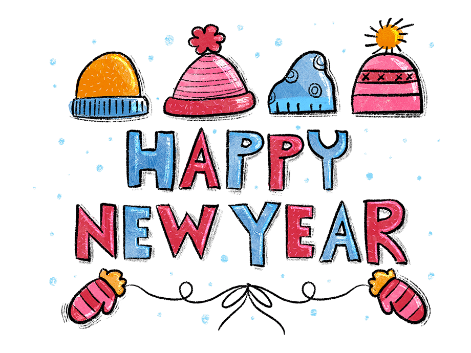 Happy New Year Colouring Page Activity