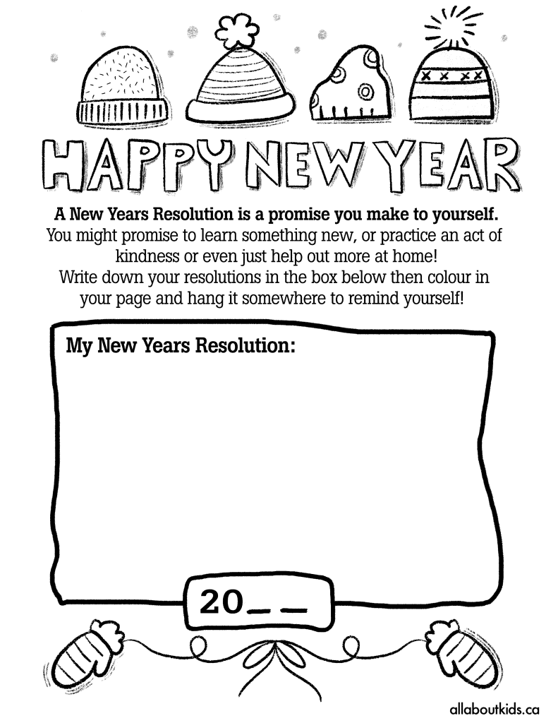 New Years Activity Page